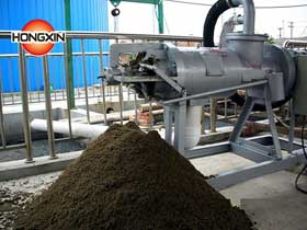 Fertilizer dewatering machine